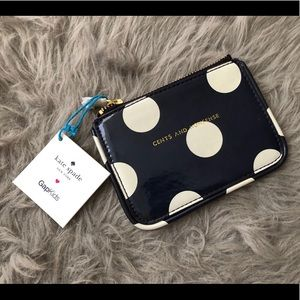 Limited Ed! Kate Spade♠️xGap Pokerdot Coin Purse